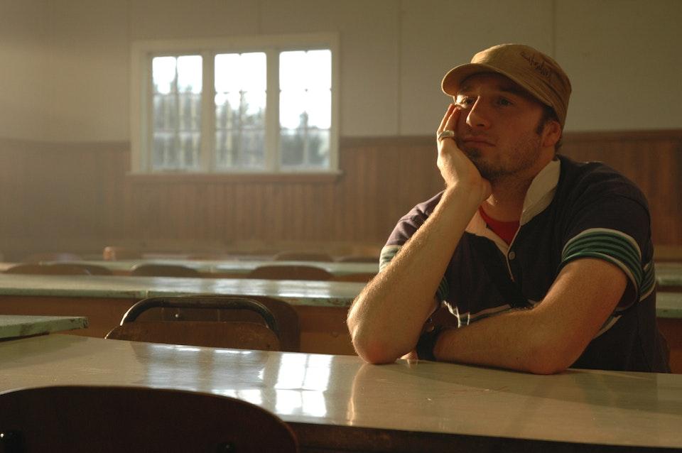 patu ihu  - Co writer Warren Beazley watching a take