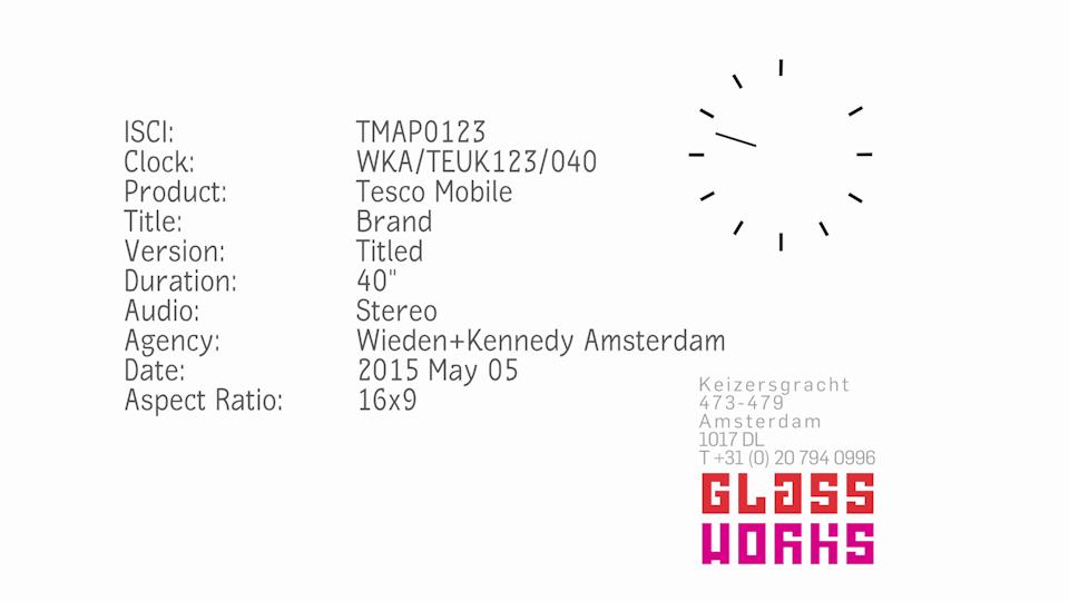 Tesco Mobile. W+K AMS. UK Campaign.