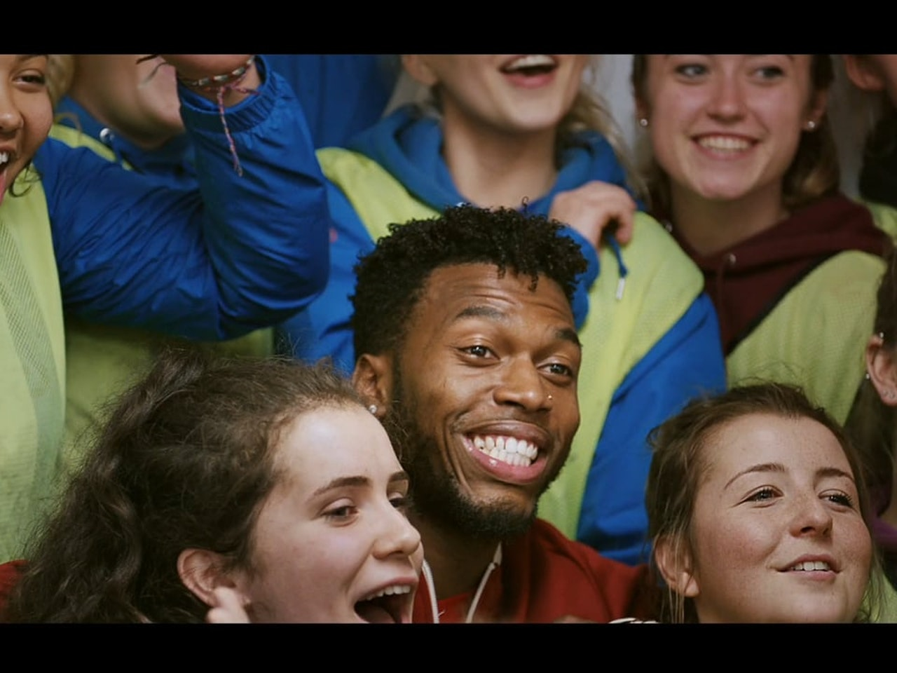 SKYPE. Surprise team call, with Liverpool FC Daniel Sturridge.
