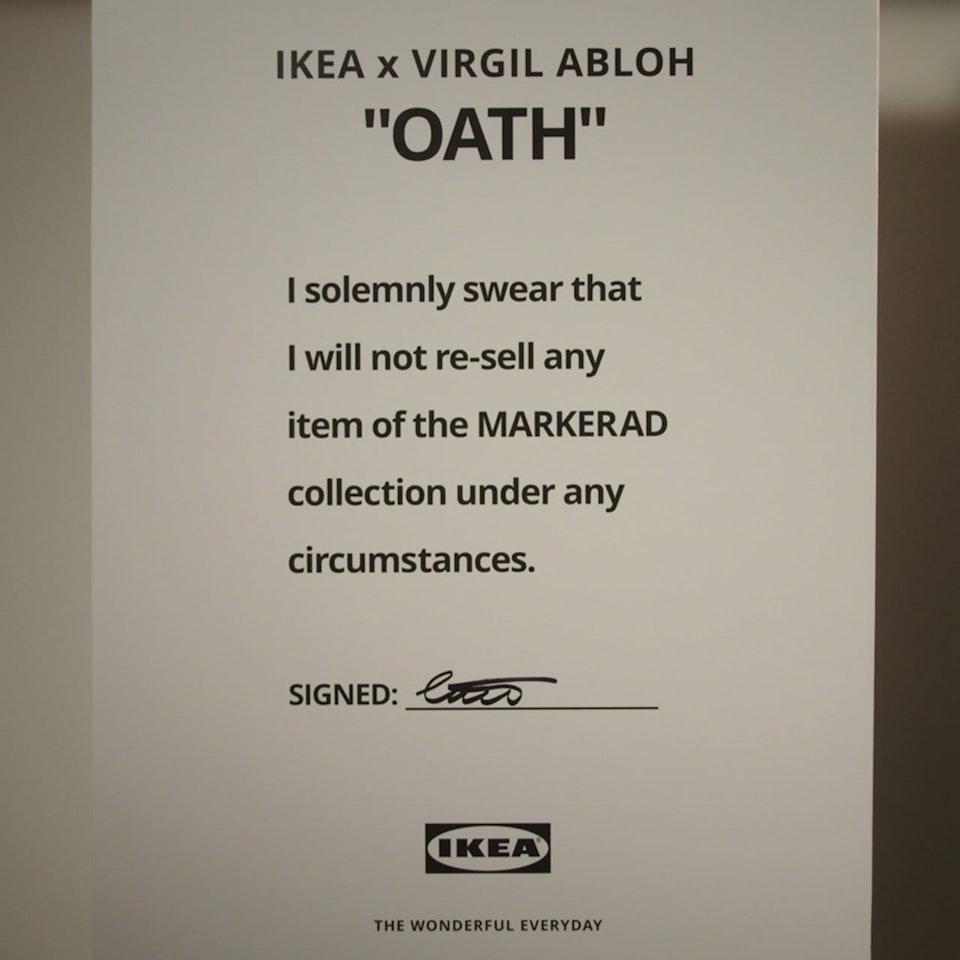IKEA. The Abloh Oath ABLOH OATH