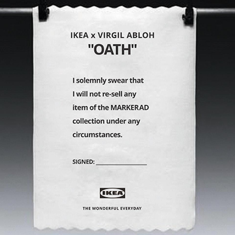 IKEA. The Abloh Oath The Oath 1c