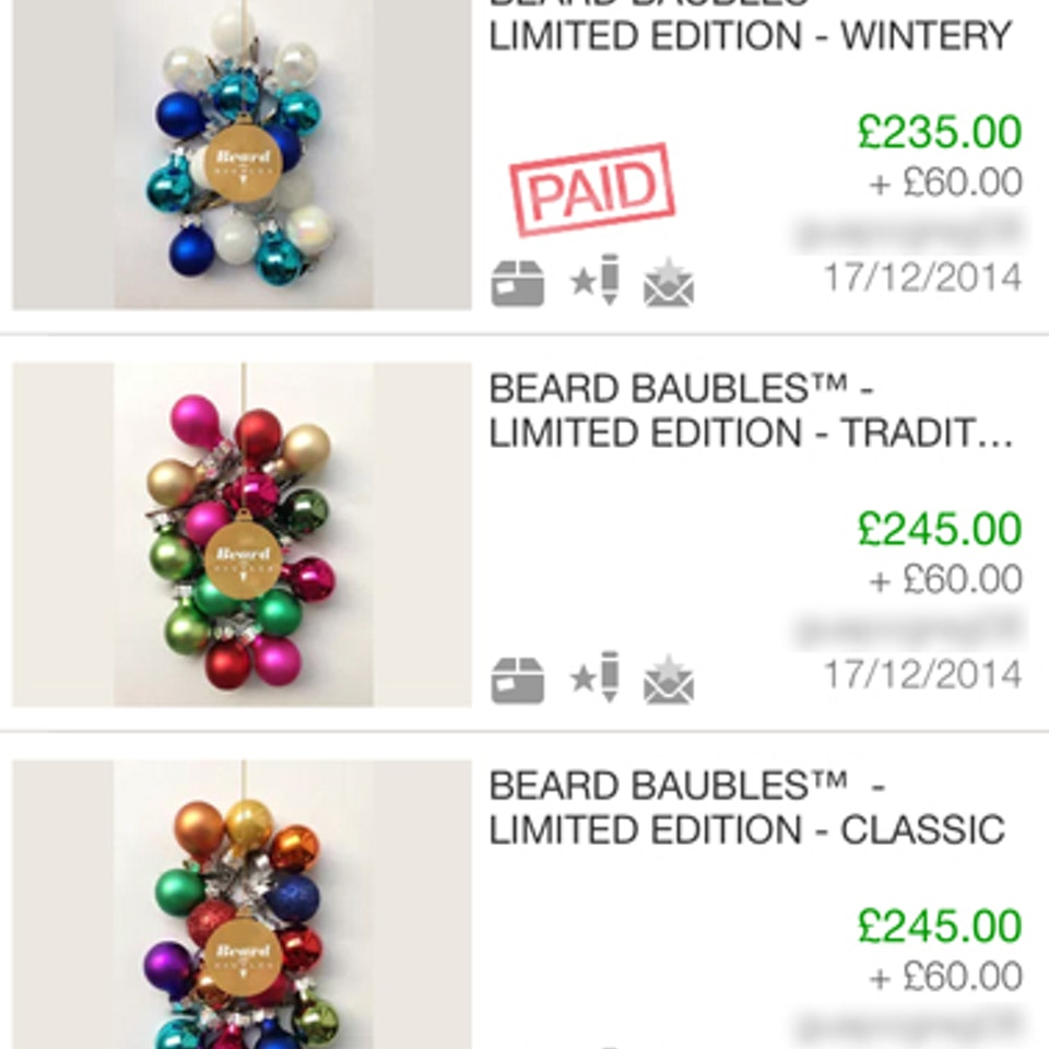 Beard Baubles ebay 0