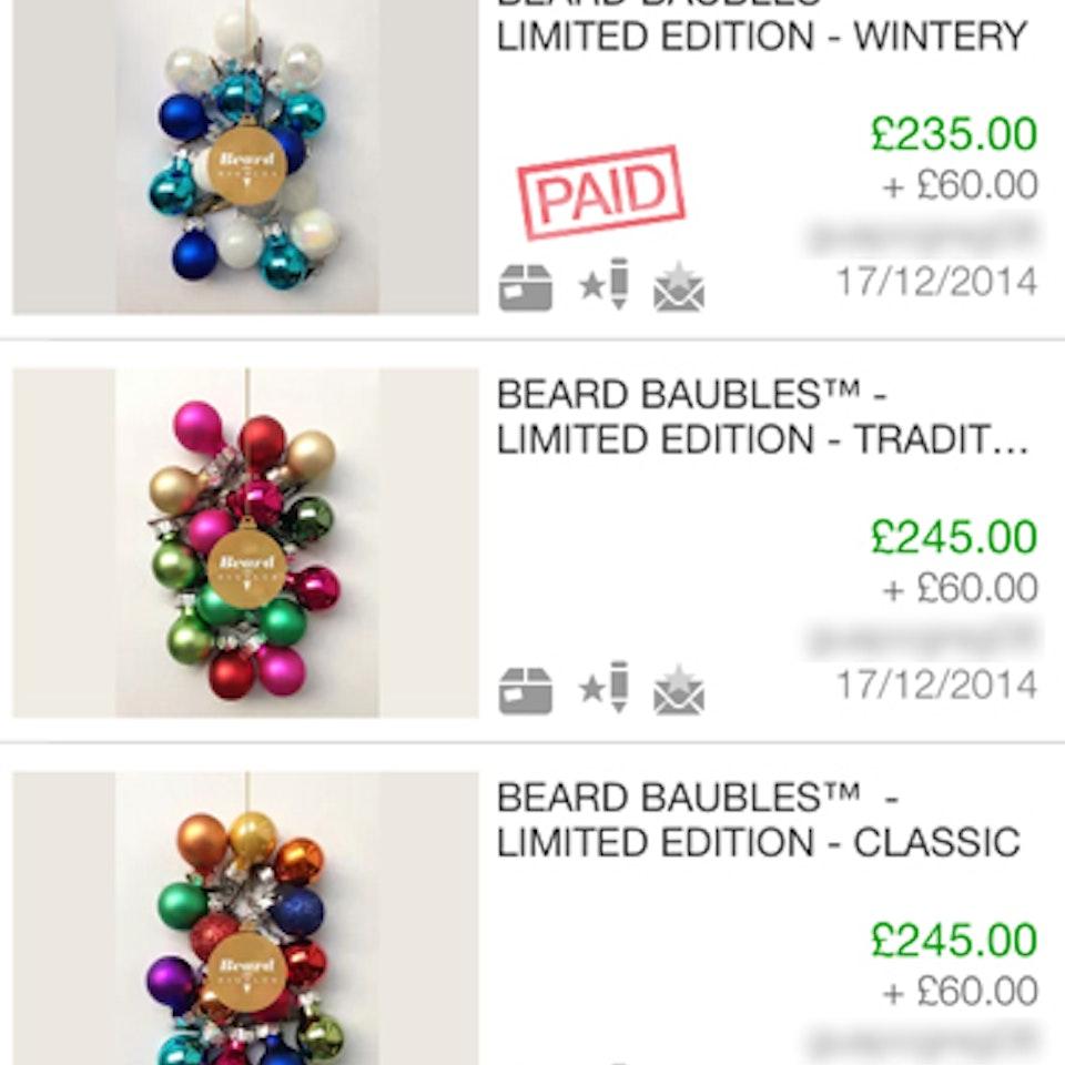 Beard Baubles ebay 0
