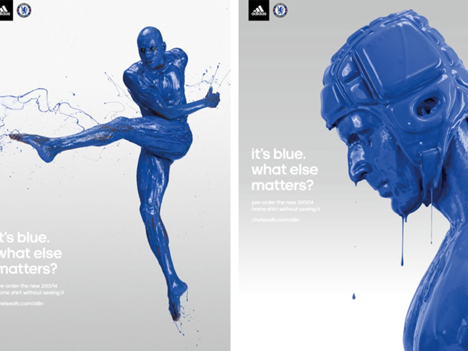 Adidas. It's Blue. What Else Matters? Poster