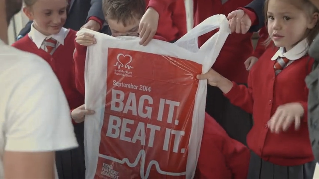 "British Heart Foundation ""Bag it, beat it"""