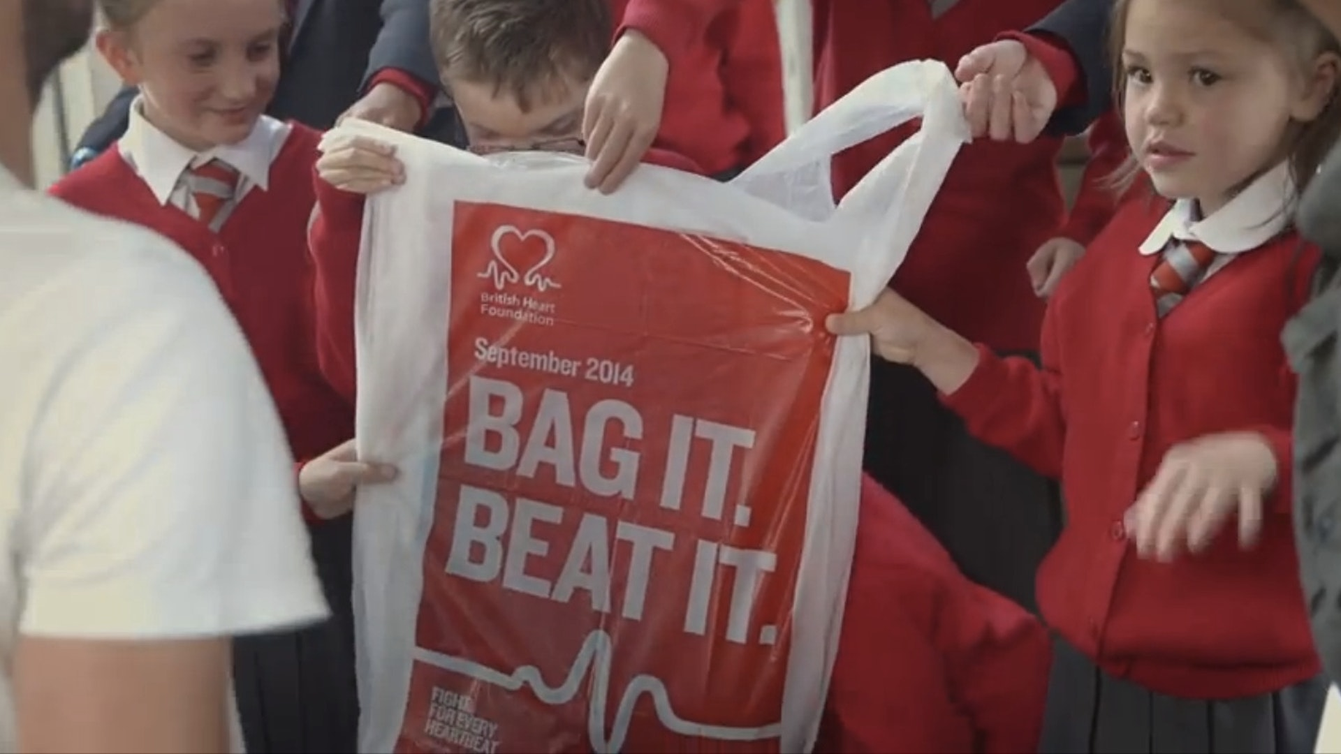 "British Heart Foundation ""Bag it, beat it"""