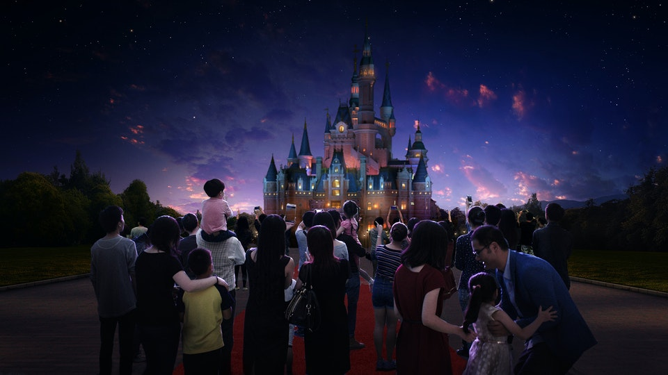 Shanghai Disney - Digital Matte Painting 01