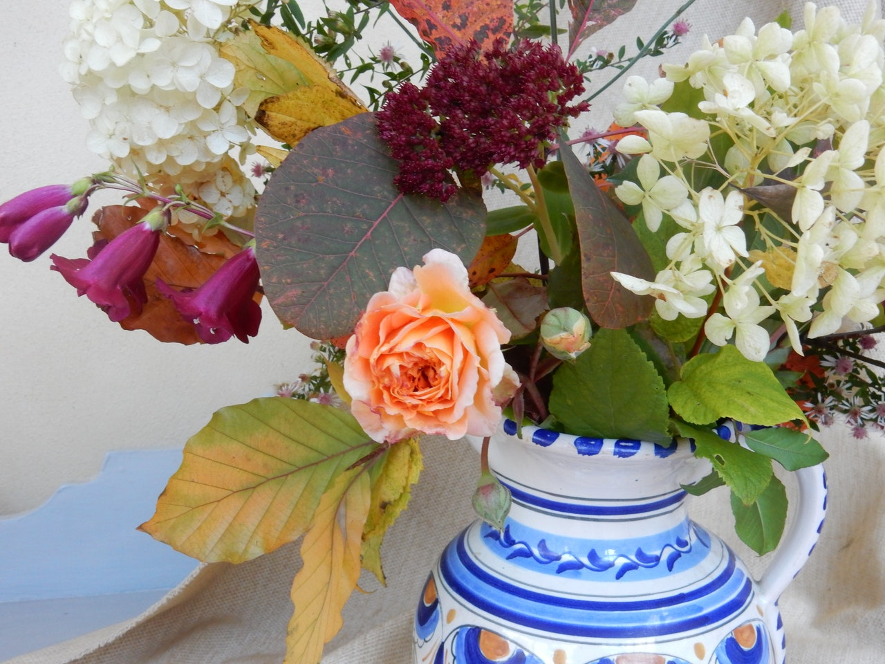 Autumn Flowers photo detail with Rose