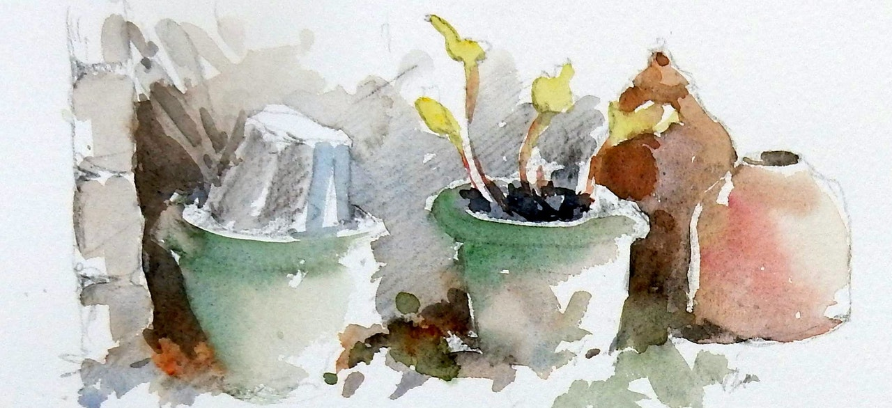 THE GARDEN GATE - a collection of recent water colours done in and around Chilson village.