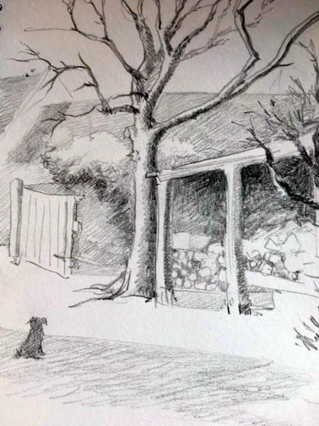 FEBRUARY Pencil sketch