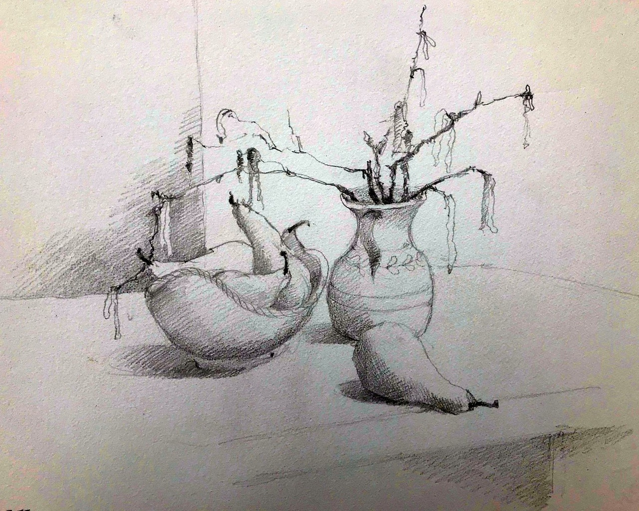 JJ5 Catkins and pears - main drawing