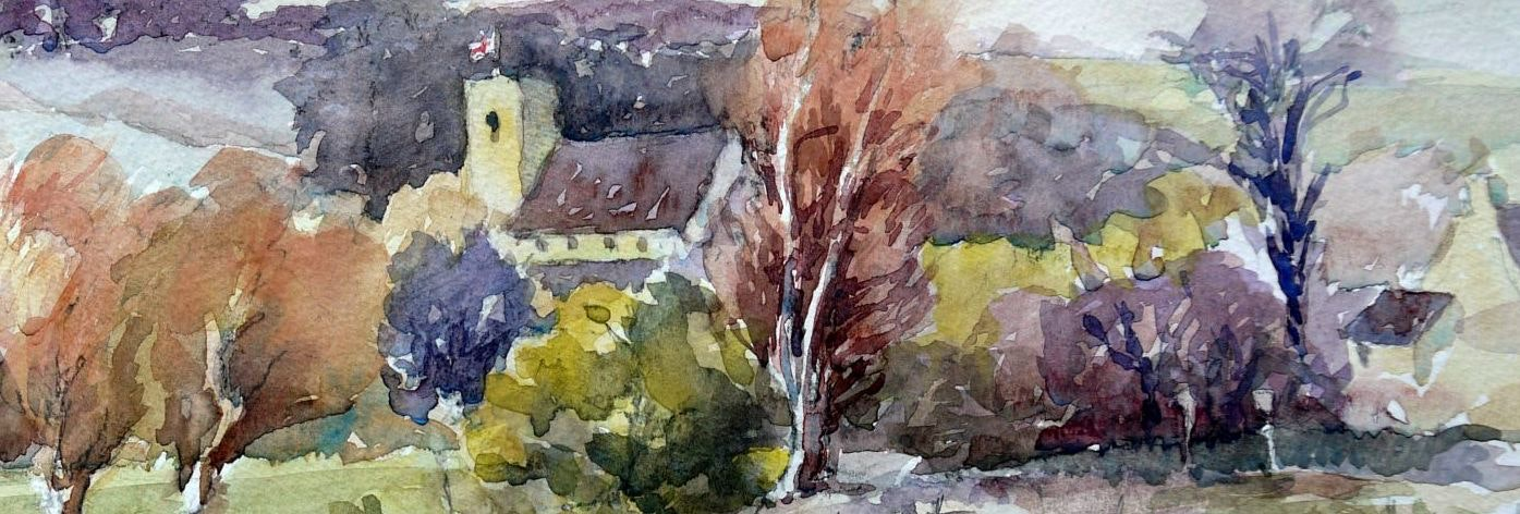 Churches in watercolour