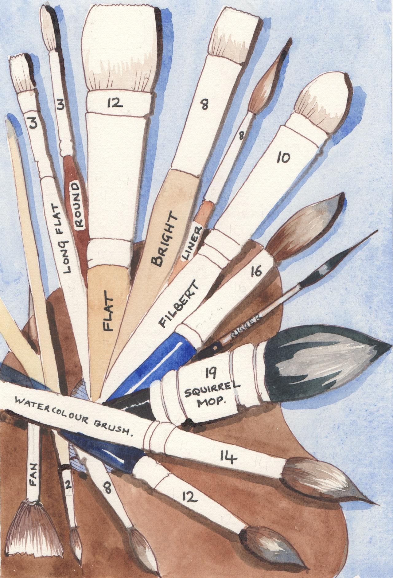 4 Brush chart