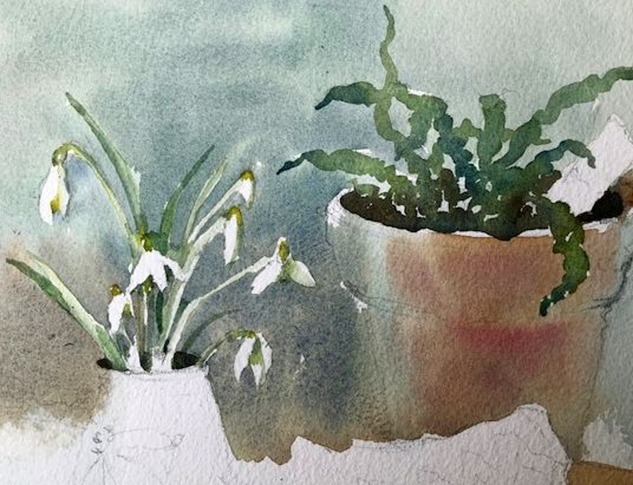 Lesson 6 painting the snowdrops