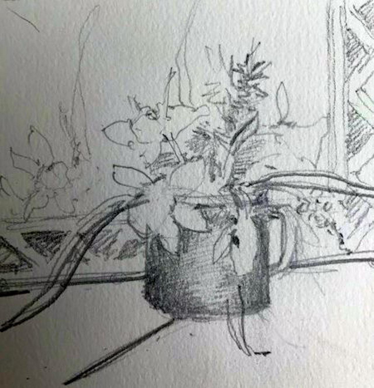 Week 9 Moody March, Daffs drawing