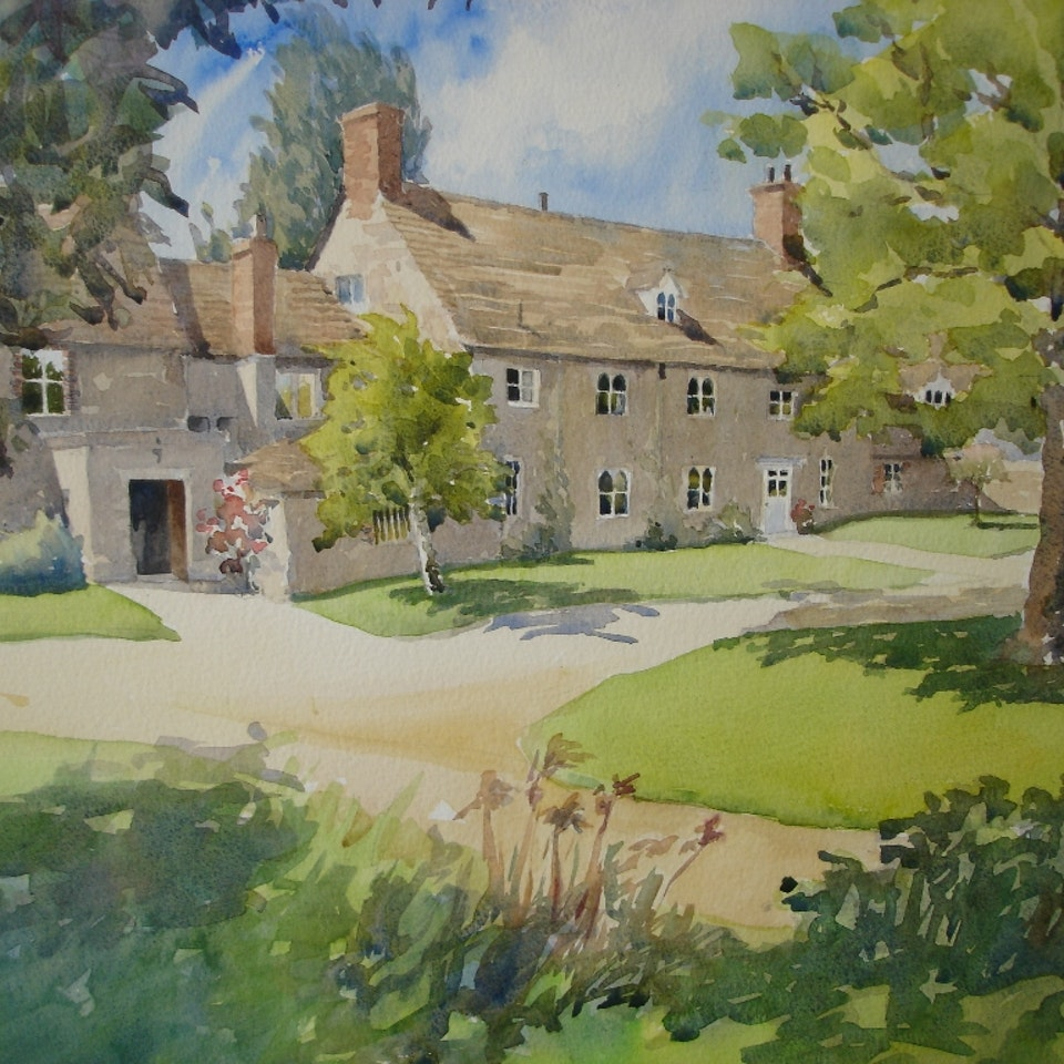 Nothing says home like an original painting...or drawing. ludwell-farm-31-54