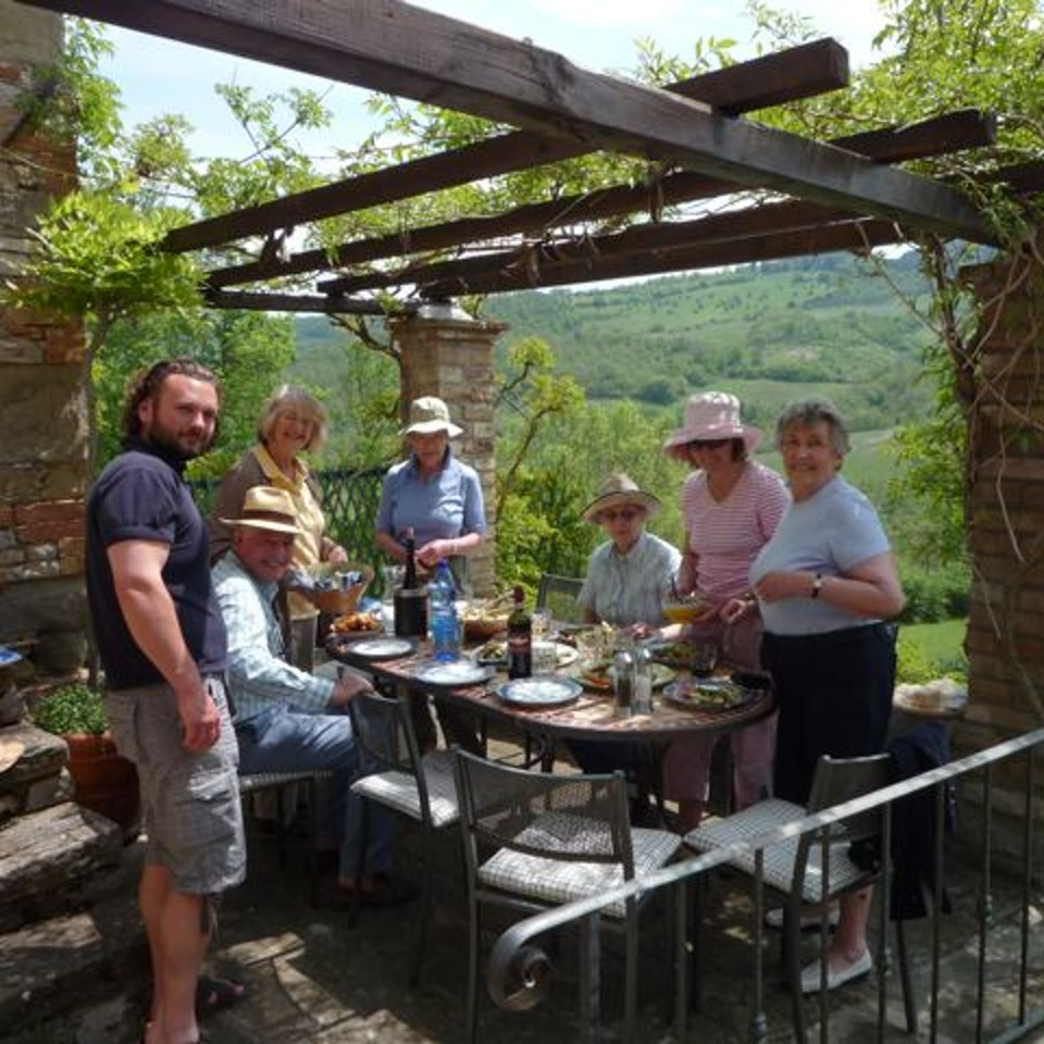 Painting Holidays Umbrian lunch