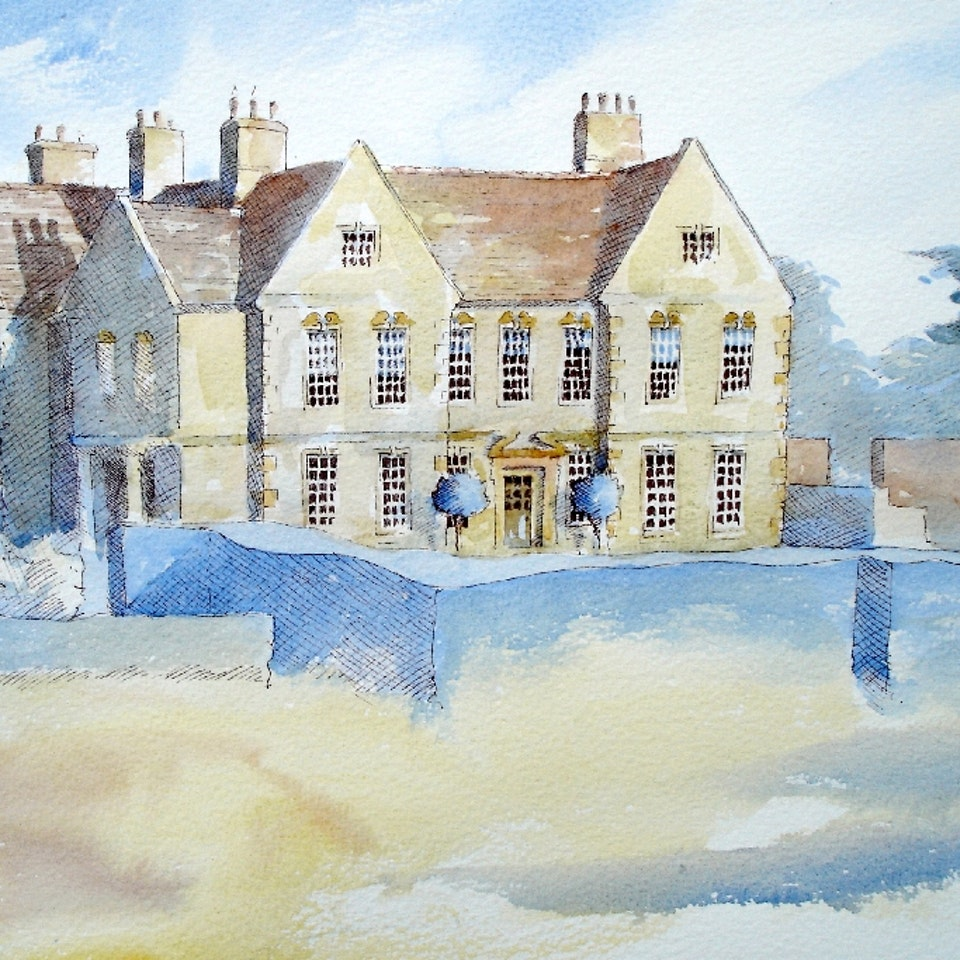 Nothing says home like an original painting...or drawing. Private commission pen and wash