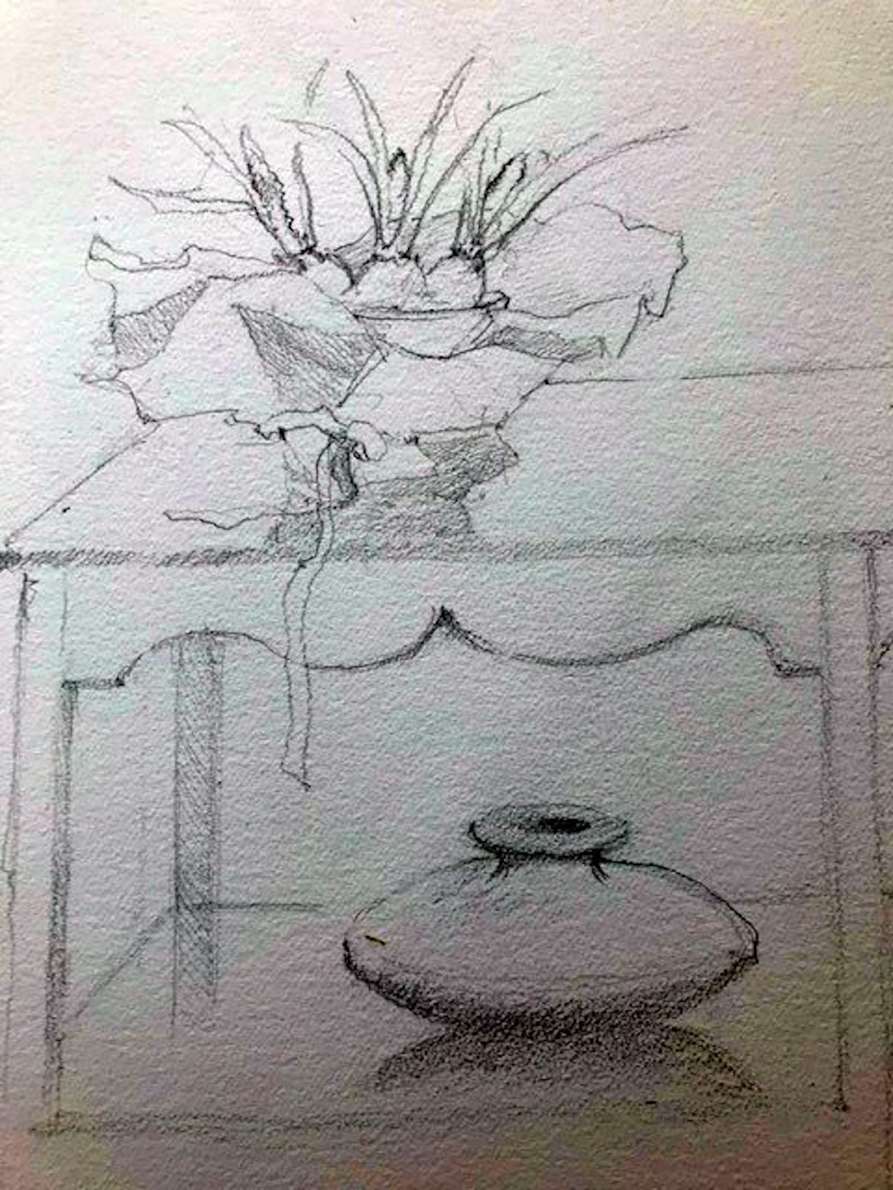 Lesson 8 Grape Hyacinths with bowl