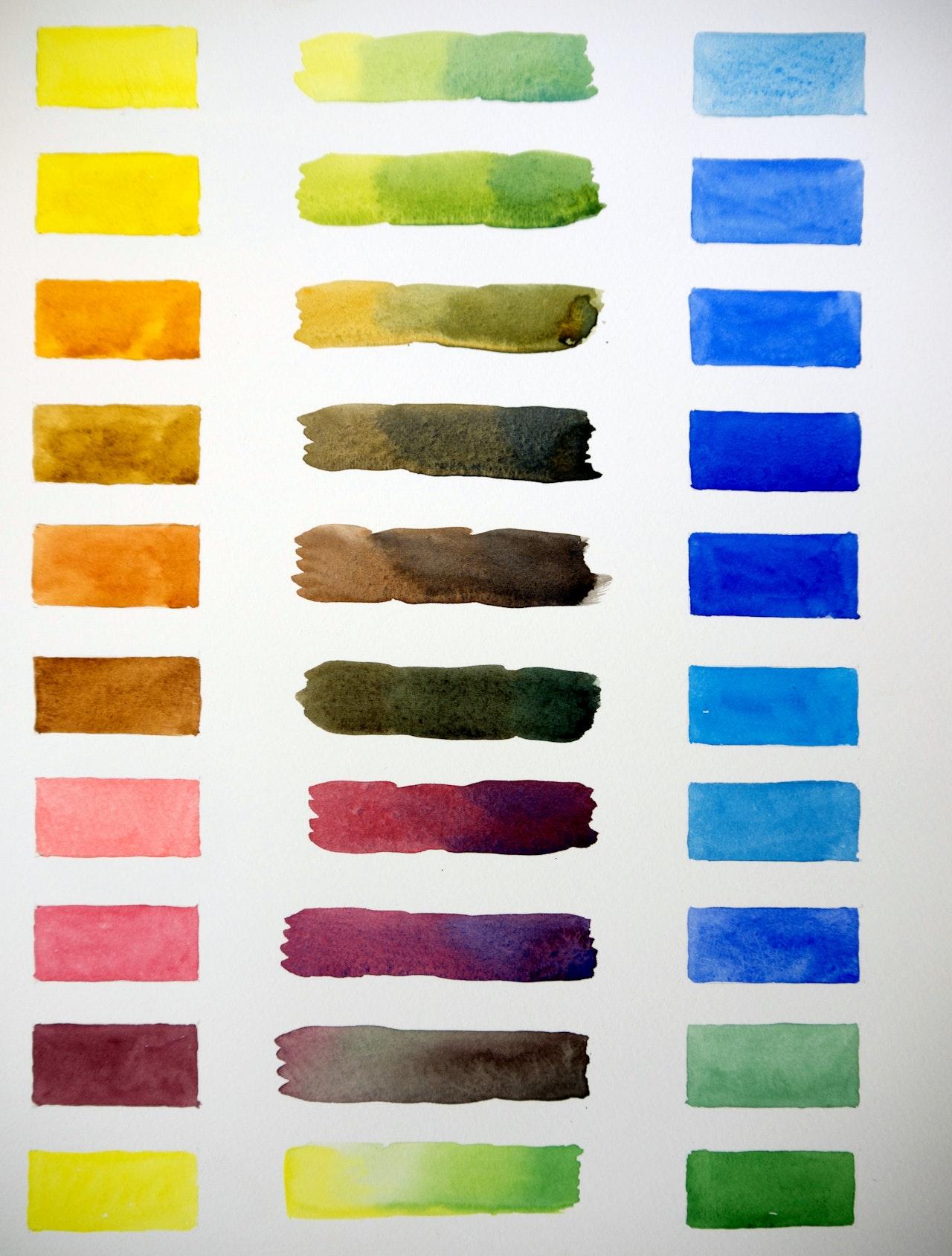Watercolour Crib Sheet