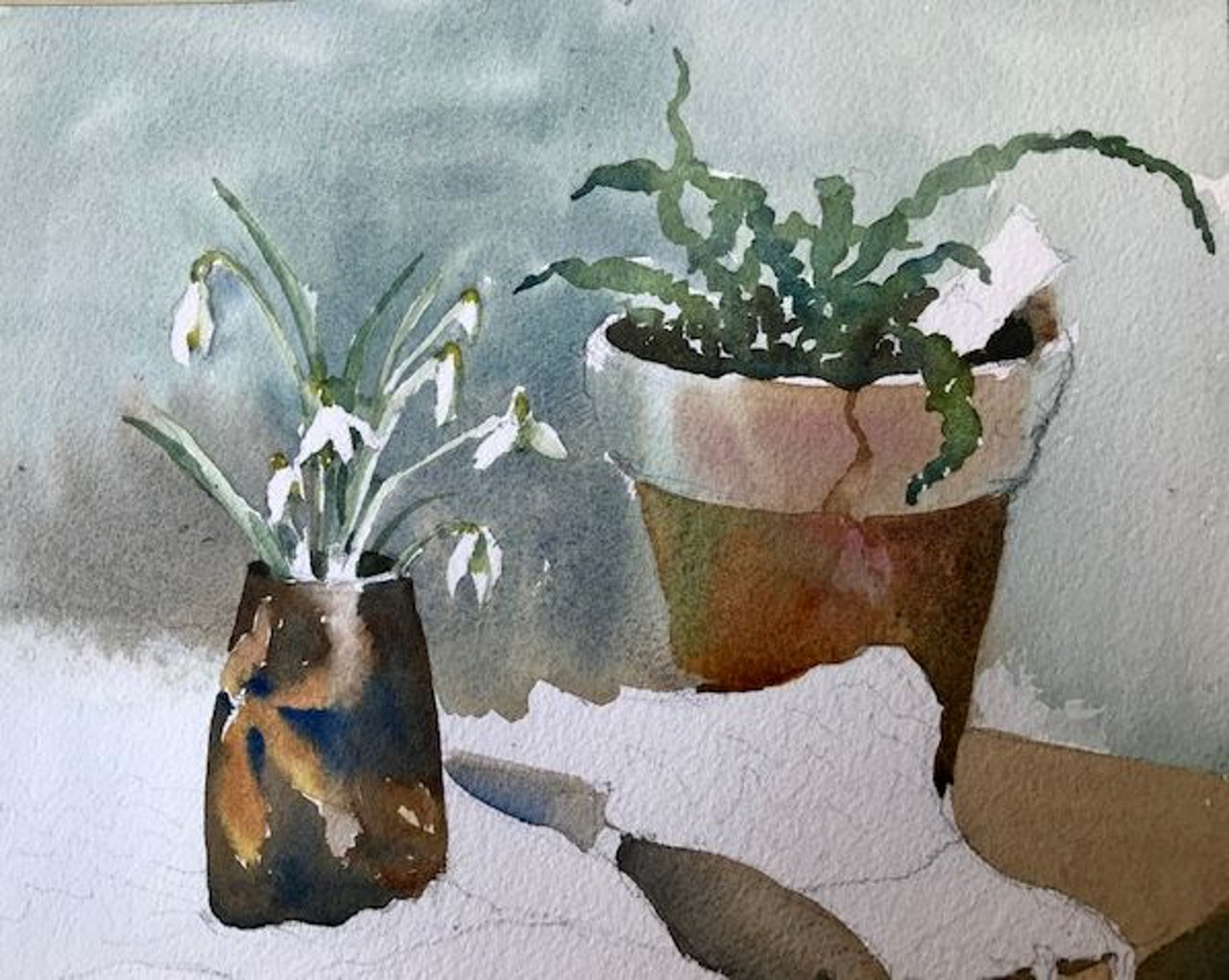 Lesson 6 snowdrops. painting the snowdrops