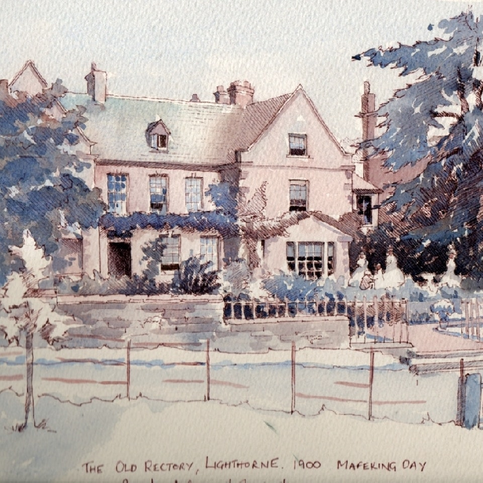 Nothing says home like an original painting...or drawing. mafeking-day-old-rectory-lighthorne-28-56