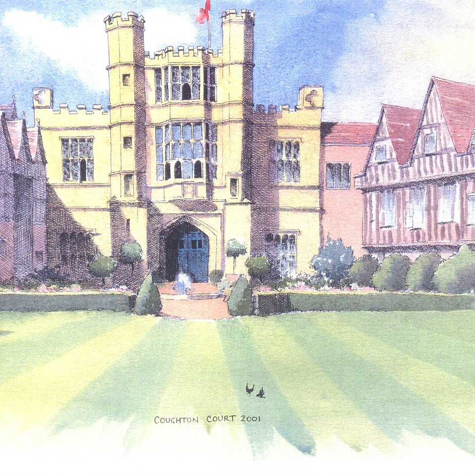 Nothing says home like an original painting...or drawing. coughton court