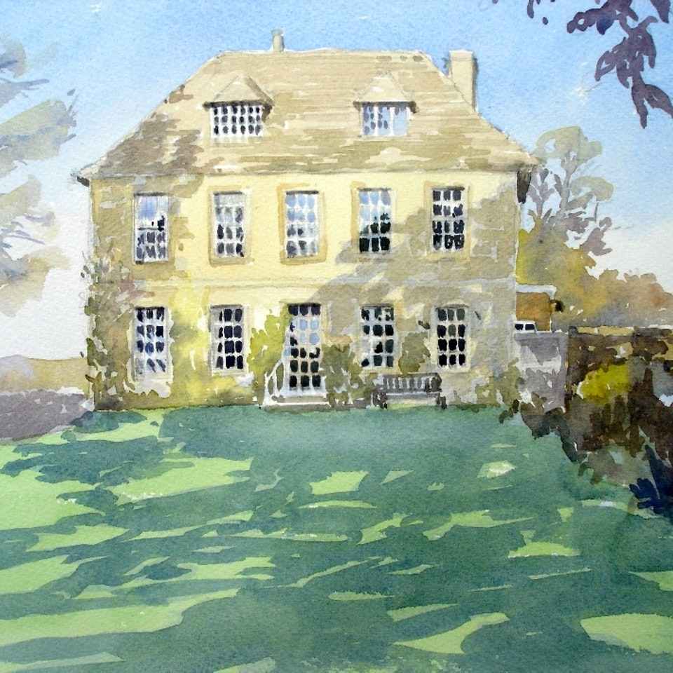 Nothing says home like an original painting...or drawing. Private commission, Sudeley