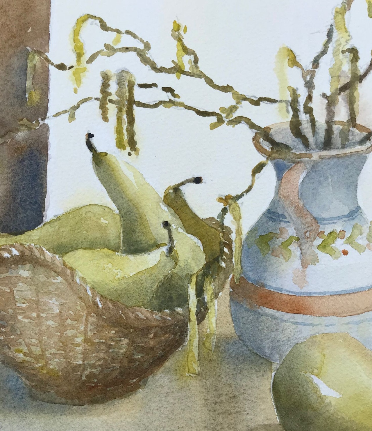 JJ5 catkins and pears, close up detail