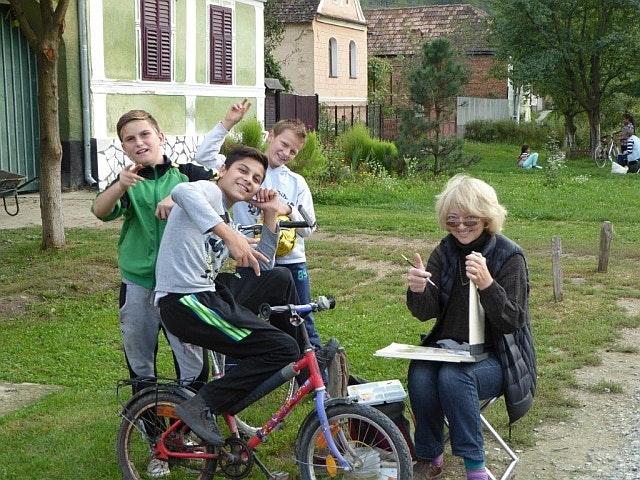 My fan club in Copsamare village life