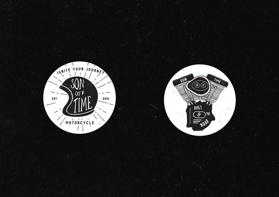 Son of Time X Numbnut Motorcycles Stickers_2