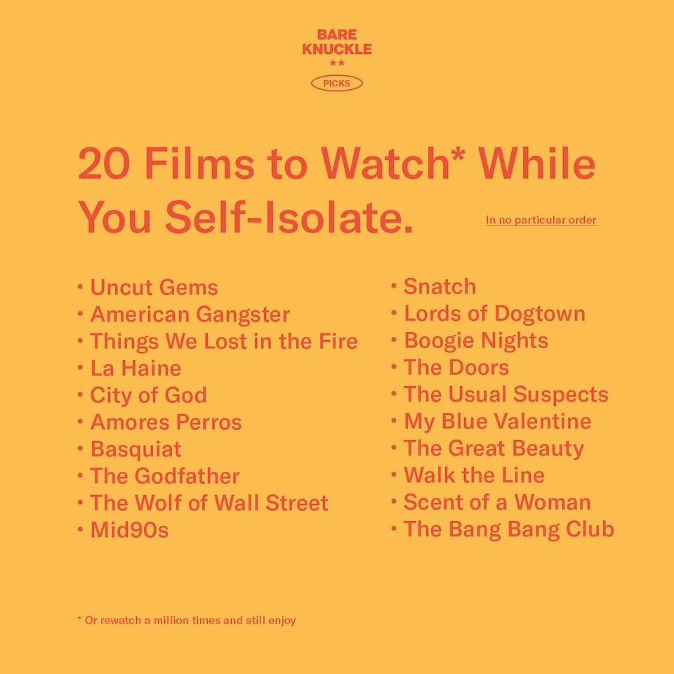 Bare Knuckle Film List