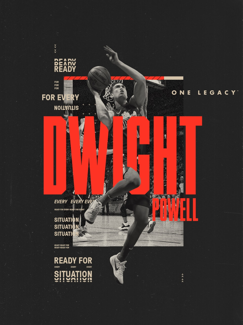 One Legacy Sports Mgmt dwight poster mockup