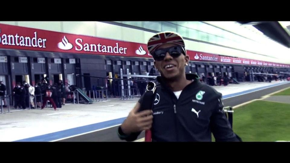 BBC F1 Silverstone 2014 - Lewis Hamilton Skydive