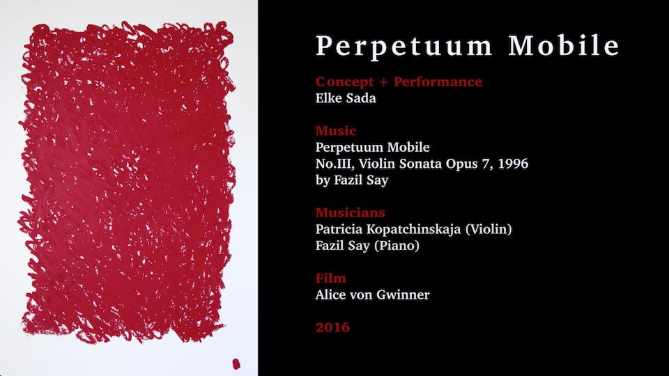 """Filmische Begleitung des Projekts """"Perpetuum Mobile"""" von Elke Sada"""