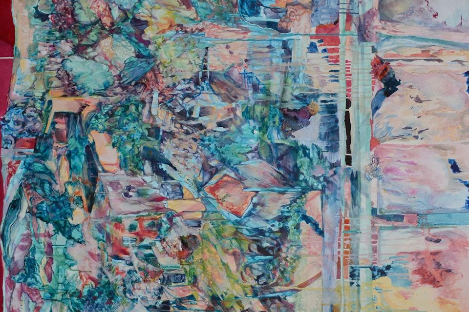 Rebuild You - Rebuild You, acrylic on canvas, 4' x 6', 2014.