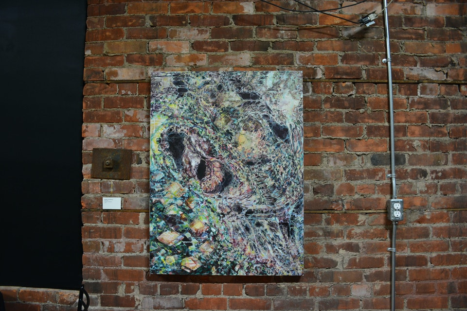 Geminate - On display during group show Zeno's Paradox at the Spice Factory in Hamilton, 2015.