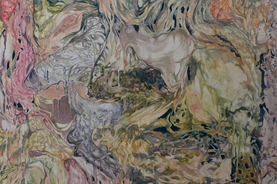 Negotiations - Acrylic on canvas, 4' x 6', 2014