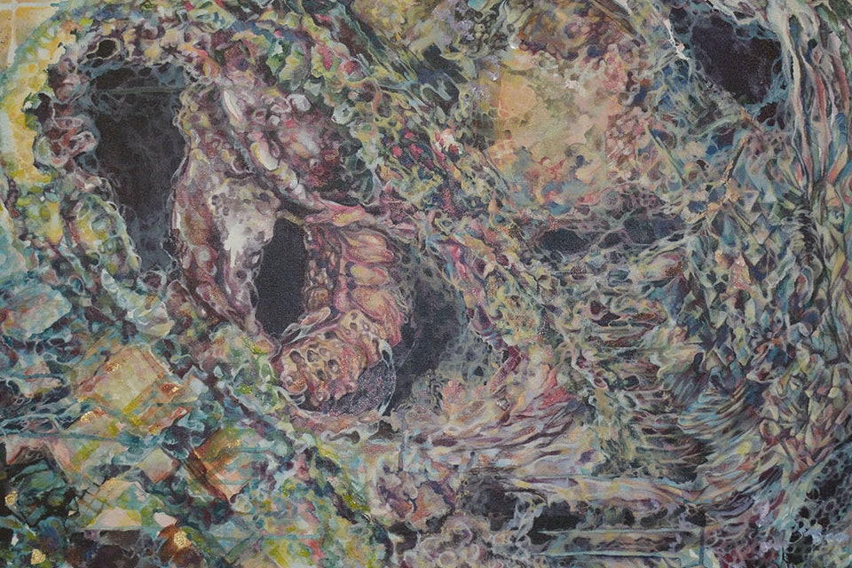 Geminate - Geminate, acrylic on Canvas, 3' x 4', 2014.