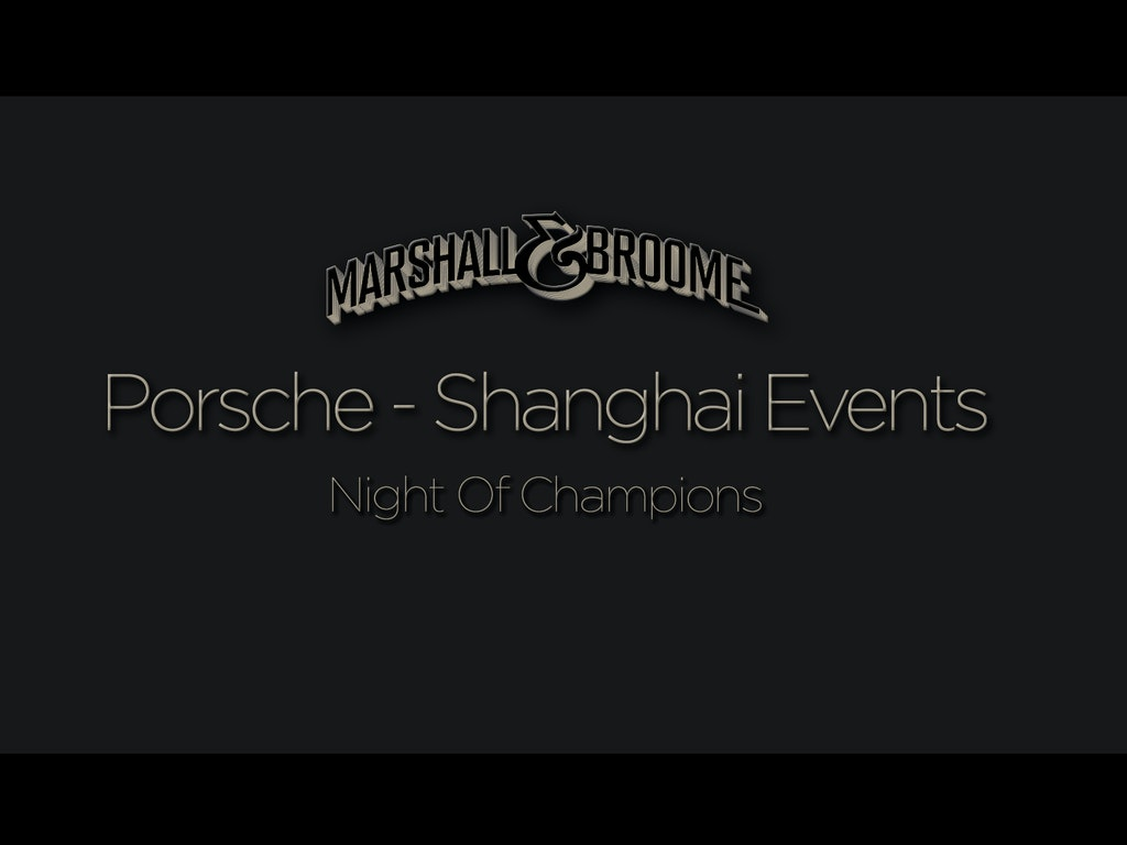 Porsche - Shanghai Events