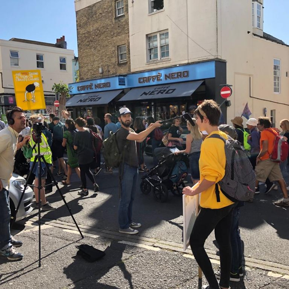 Big Egg Films - Video Production, Brighton. - Big Egg heads into Brighton to capture scenes from the Extinction Rebellion March!