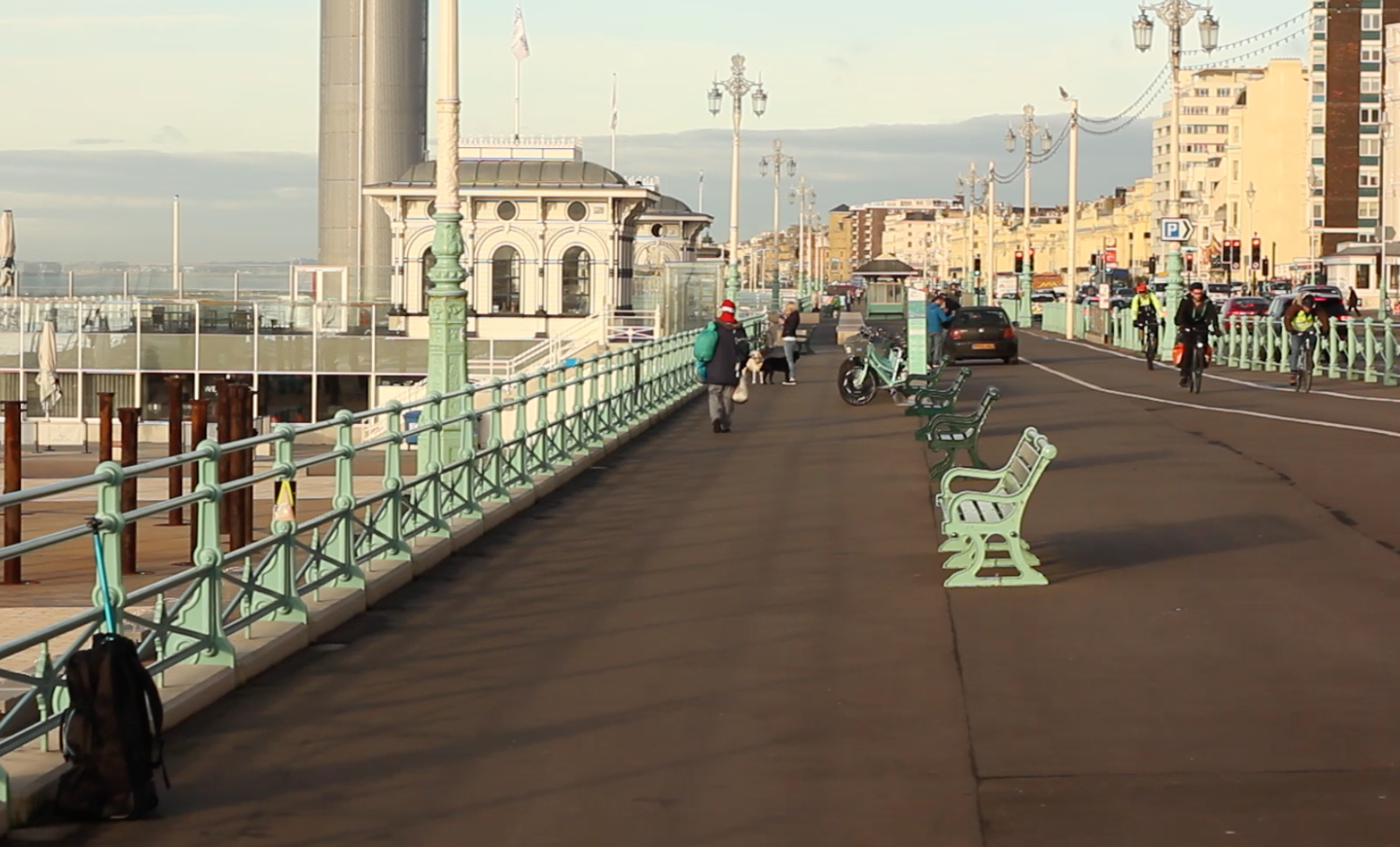Brighton Housing Trust Brighton seafront drone shot