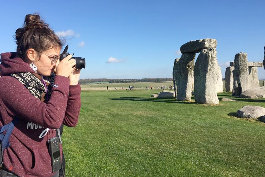 Laure shooting at Stonehenge
