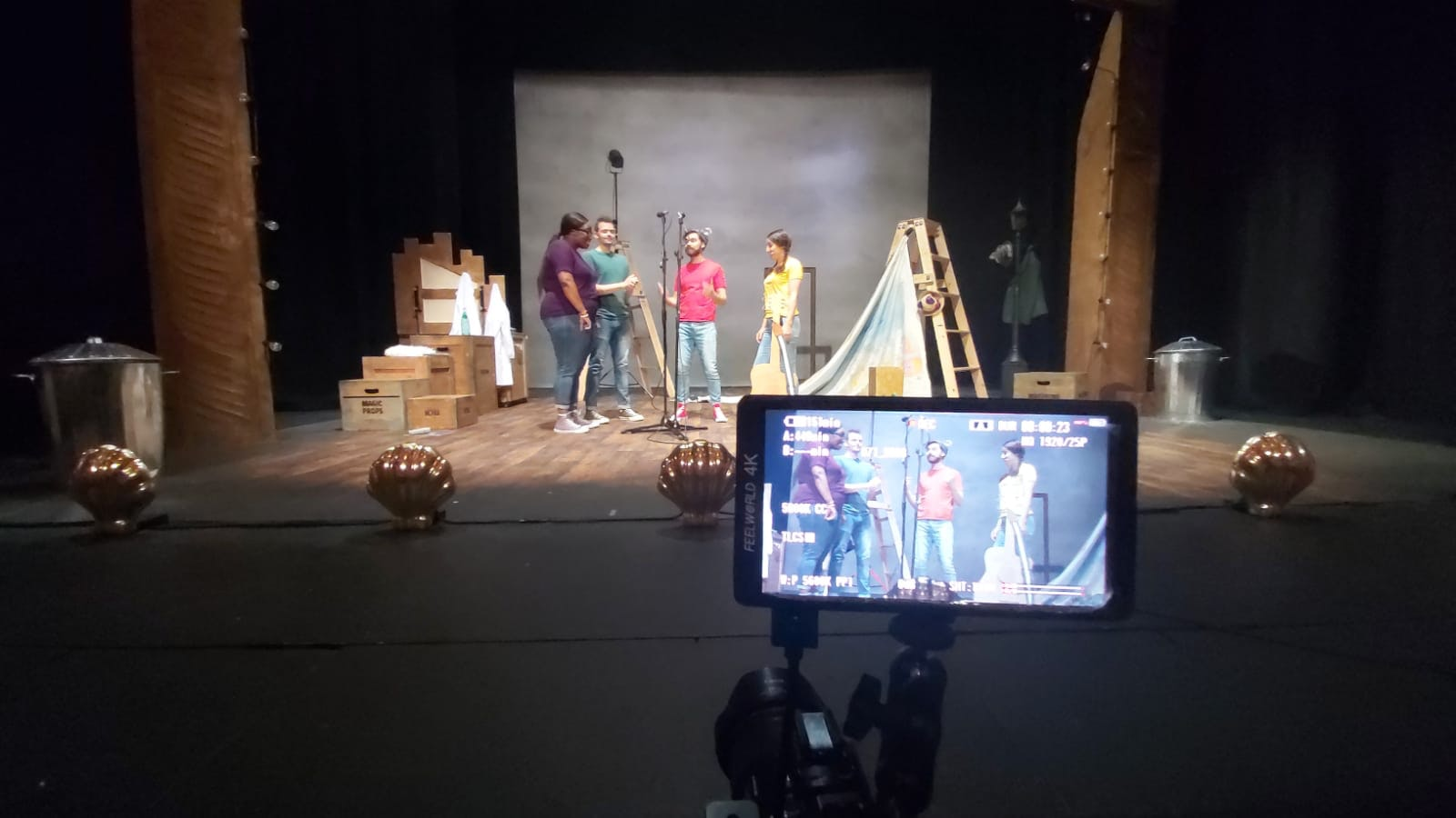 film monitor actors stage