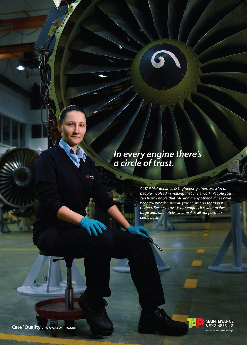 'The Circle of Trust' - TAP MAINTENANCE & ENGINEERING - ad_magazine