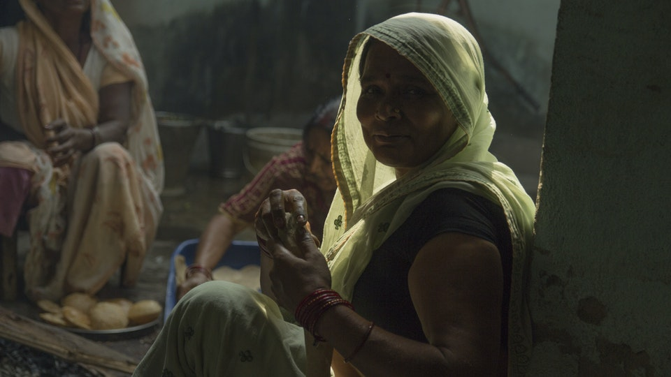 NEHA - Puri in the making! It was so beautiful to see women in the family working together to prepare lunch.<br>In india, women play key role in the kitchen as well as binding people to their families.