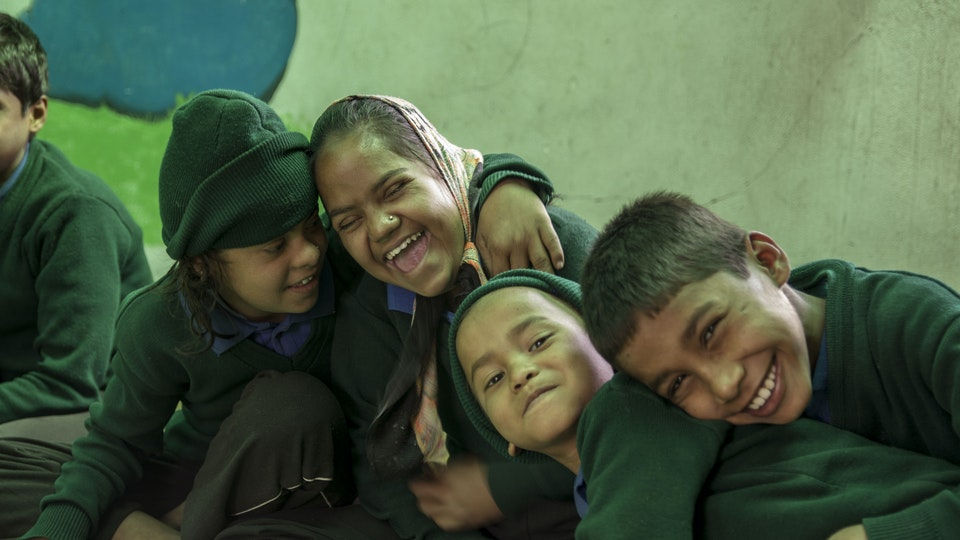 NEHA - Hanging with kids in special needs program.<br>Their smiles were so infectious!