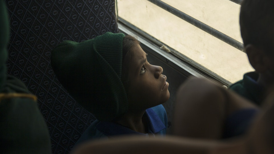 Education to Empowerment - A ride home. The school bus picks up and drops off kids with disabilities and some staff along the way.<br>Free school transport increases attendance in remote rural areas where majority of households cannot afford vehicles.