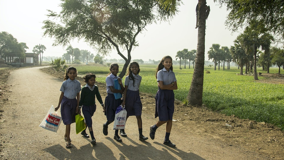 NEHA - Girls, sisters, friends, neighbors from nearby villages on the way to school. Seeing those happy faces walking together through green fields is one of the best scenes in the morning.<br>Bihar is one of India's most illiterate states and has the lowest female literacy rate. Most girls were married off before 18 and believed to have no economic benefit for their parents.<br>Many girls in rural villages have never attended school. Bodhi Tree Foundation works hard in creating equal access to education between boys and girls.