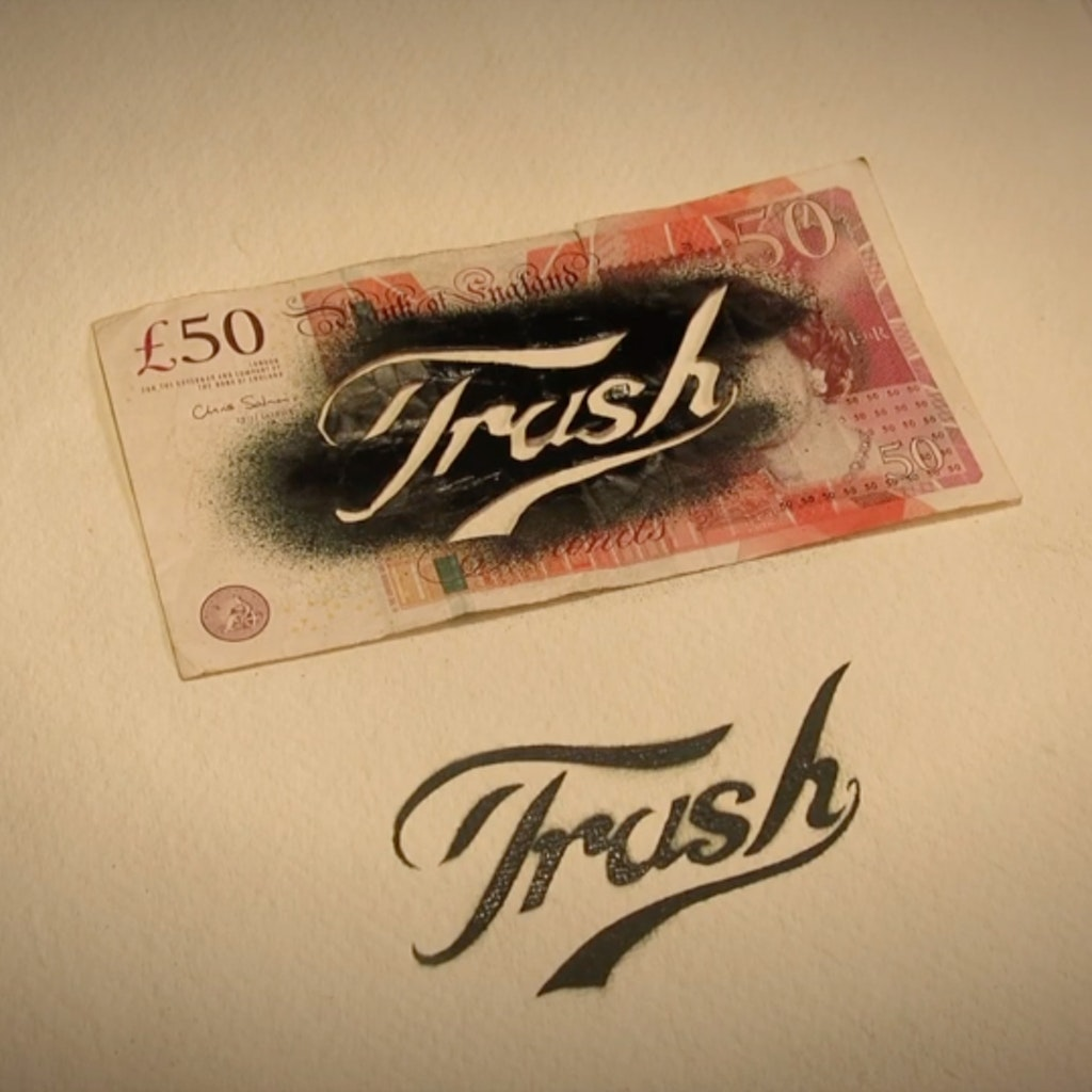 Trashed cash for Trash n Cash London show 13th Nov